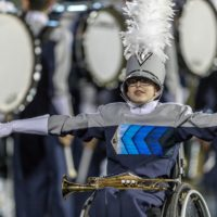 Drew Bell performs with the Keller High School Marching Band. (Photo: Rick Eliseon)