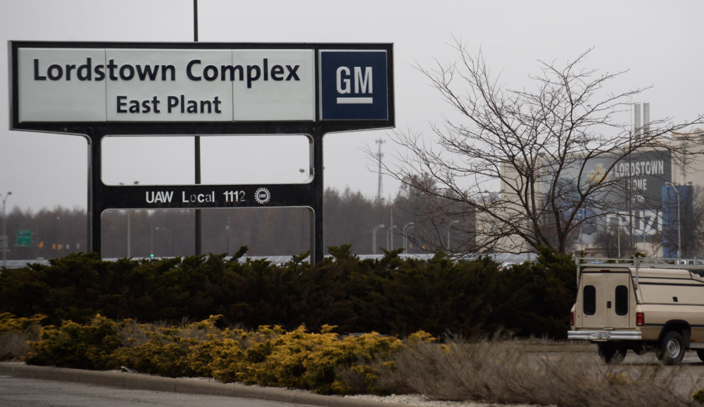 LORDSTOWN, OH - NOVEMBER 26: An exterior view of the GM Lordstown Plant on November 26, 2018 in Lordstown, Ohio. GM said it would end production at five North American plants including Lordstown, and cut 15 percent of its salaried workforce. The GM Lordstown Plant assembles the Chevy Cruz. (Jeff Swensen/Getty Images)