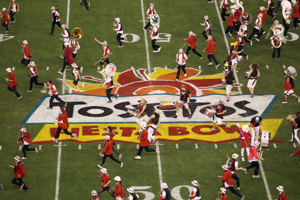 The Stanford band performs at the 2012 Fiesta Bowl. (Christian Petersen/Getty Images)