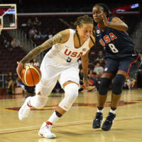 Seimone Augustus is now a 12-year WNBA veteran and a three-time Olympic gold medalist with Team USA. (Jayne Kamin-Oncea/Getty Images)