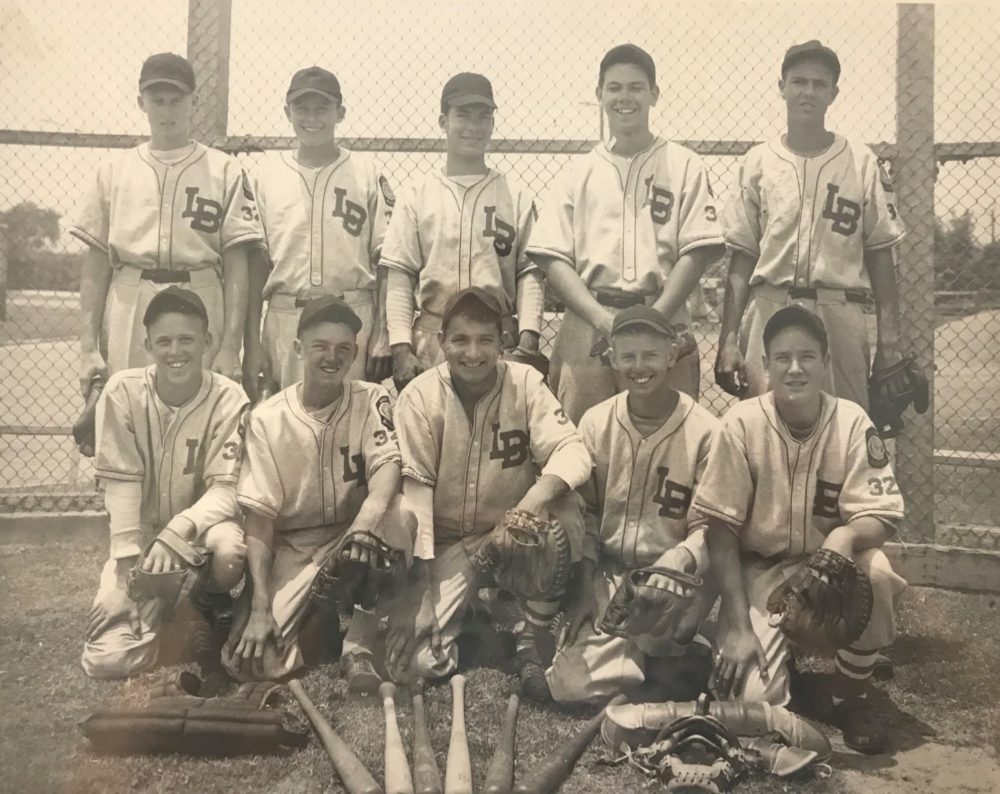 Bill Brannon's high school baseball team. (Courtesy Tom Brannon)