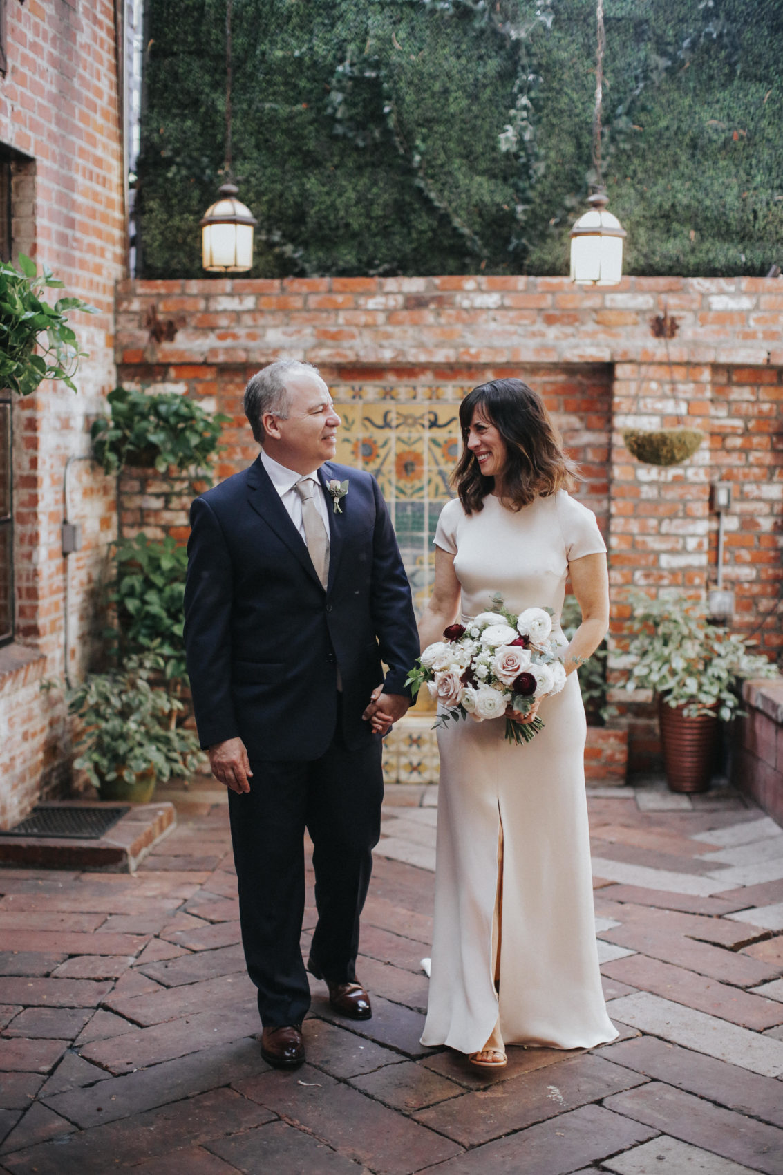 Laurie and Jonathan at their wedding, October 2018 (Credit: Jenny Smith & Co.)