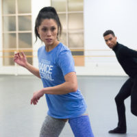 "Lia Cirio leads rehearsals on her new piece of choreography ""Sta(i)r(e)s"" (Courtesy Brooke Trisolini and Boston Ballet)"