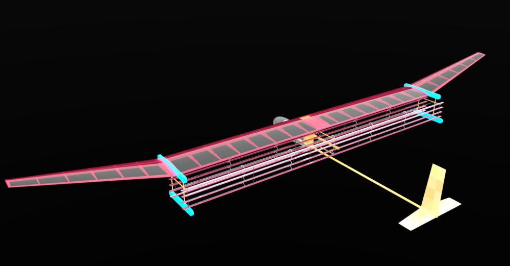 A general blueprint for an MIT plane propelled by ionic wind. The system may be used to propel small drones and even lightweight aircraft, as an alternative to fossil fuel propulsion. (MIT Electric Aircraft Initiative)
