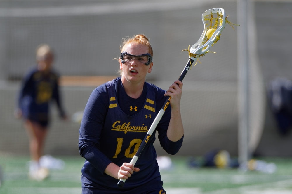 Madison Roberts is a senior on the Cal women's lacrosse team. (Robert Edwards - KLC Fotos)