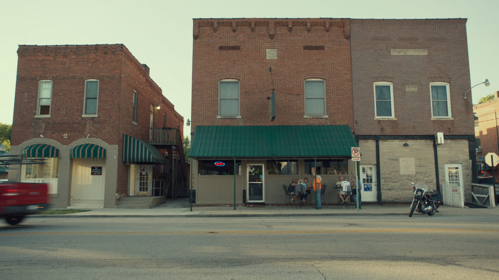 A storefront on Main Street in Monrovia, Indiana. (Courtesy Zipporah Films)