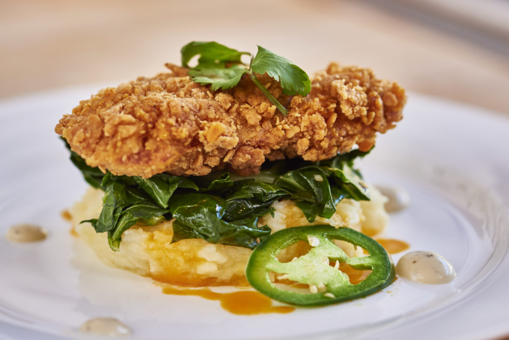 Fried chicken made from cultured meat at San Francisco-based Memphis Meats. (Courtesy Memphis Meats)