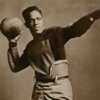 Fritz Pollard was a star running back for Brown University. (John Hay Library, Brown University)