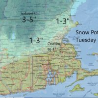 Light snow will accumulate today across northern areas. (Dave Epstein/WBUR)