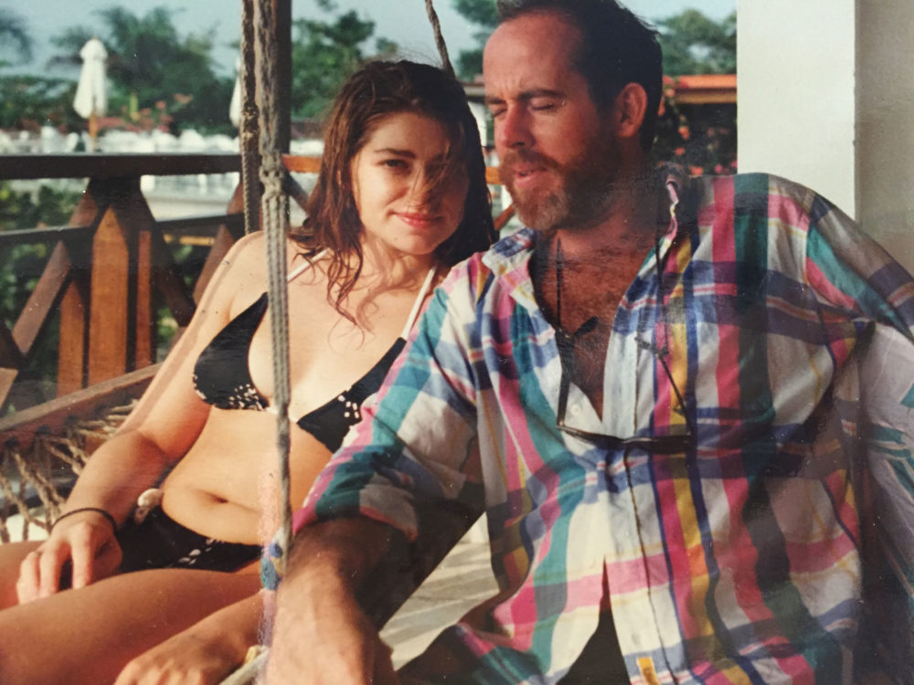 Stéphanie Rabinowitz with Brian McDevitt in December 1989. (Courtesy Stéphanie Rabinowitz)