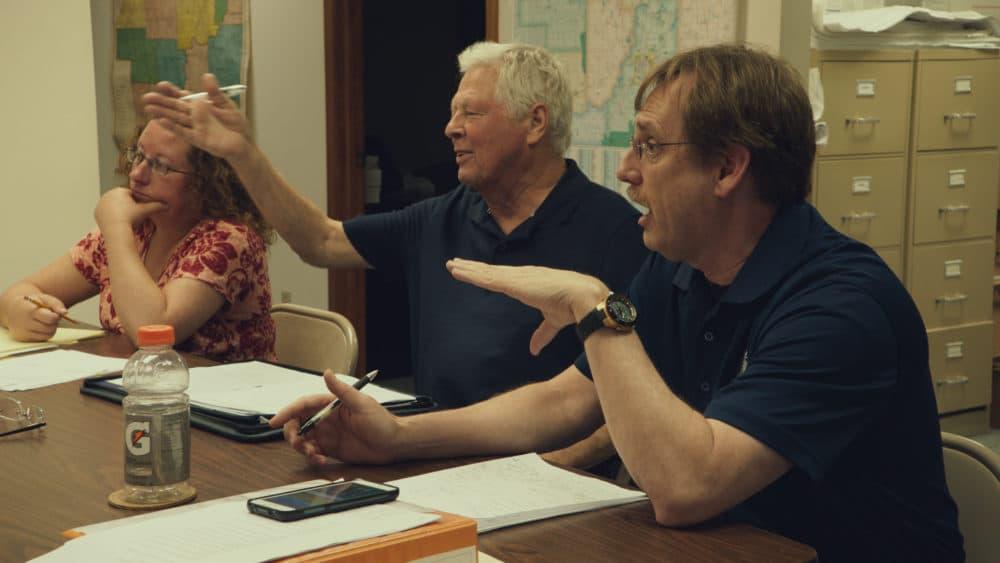 A town council meeting in Monrovia. (Courtesy Zipporah Films)