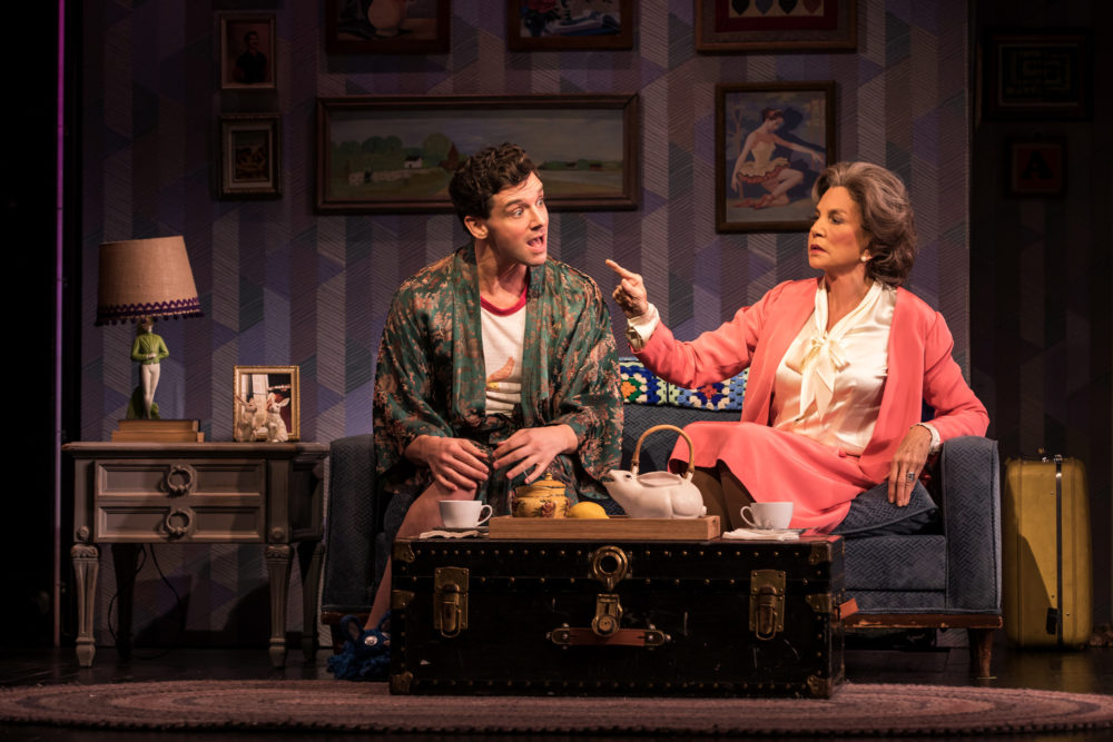 "Michael Urie and Mercedes Ruehl in ""Torch Song."" (Courtesy of Matthew Murphy)"