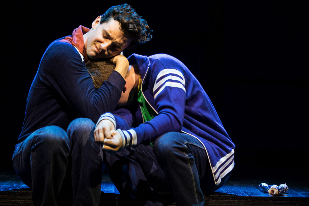 "Michael Urie and Jack DiFalco in ""Torch Song."" (Courtesy of Matthew Murphy)"
