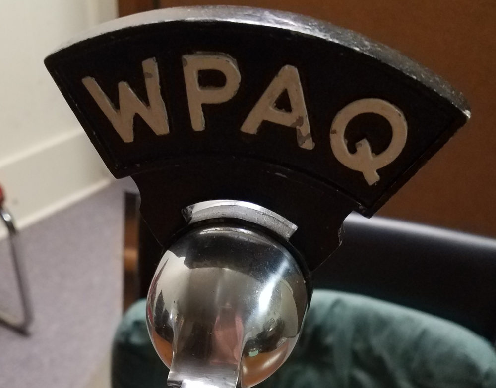 WPAQ out of Mount Airy, North Carolina, broadcasts bluegrass music, sermons —  and high school football. (Courtesy Kelly Epperson)