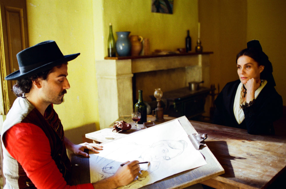 "Oscar Isaac as Paul Gauguin and Emmanuelle Seigner as Madame Ginoux in ""At Eternity's Gate."" (Courtesy Lily Gavin)"