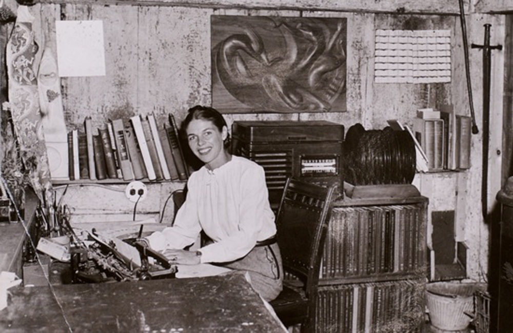 Artist Virginia Lee Burton in her studio in Gloucester (Courtesy)