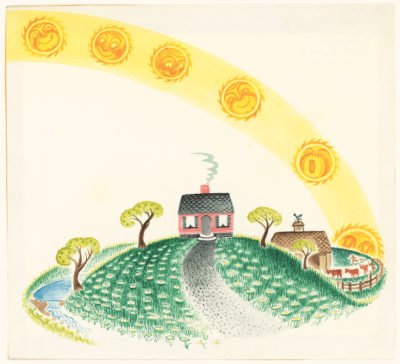 "An illustration from Virginia Lee Burton's ""The Little House"" (Courtesy Cape Ann Museum)"