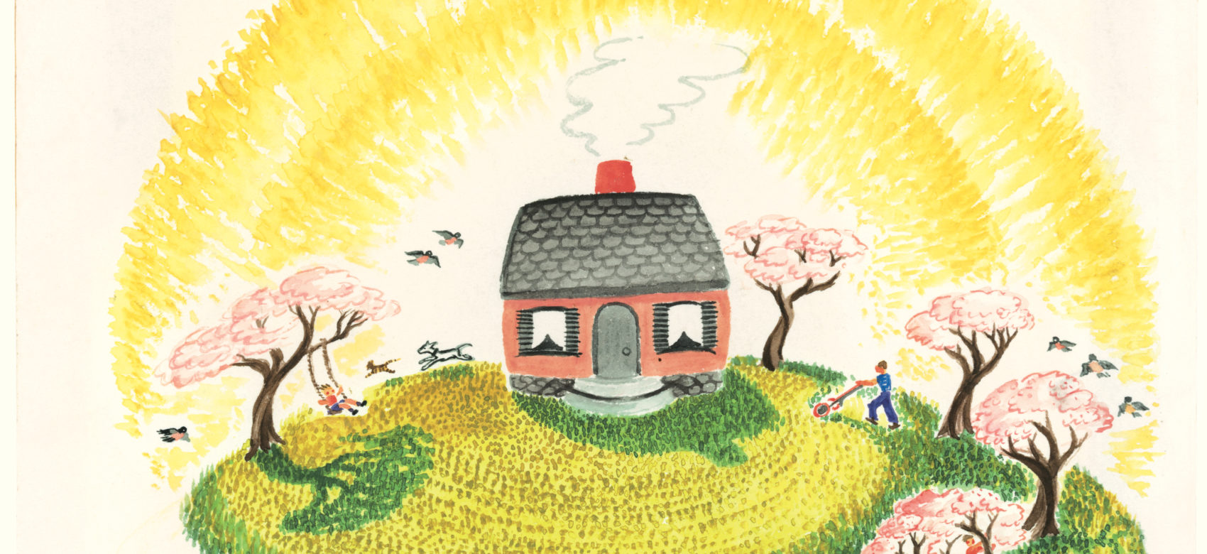 "An illustration from Virginia Lee Burton's ""The Little House."" (Courtesy Cape Ann Museum)"