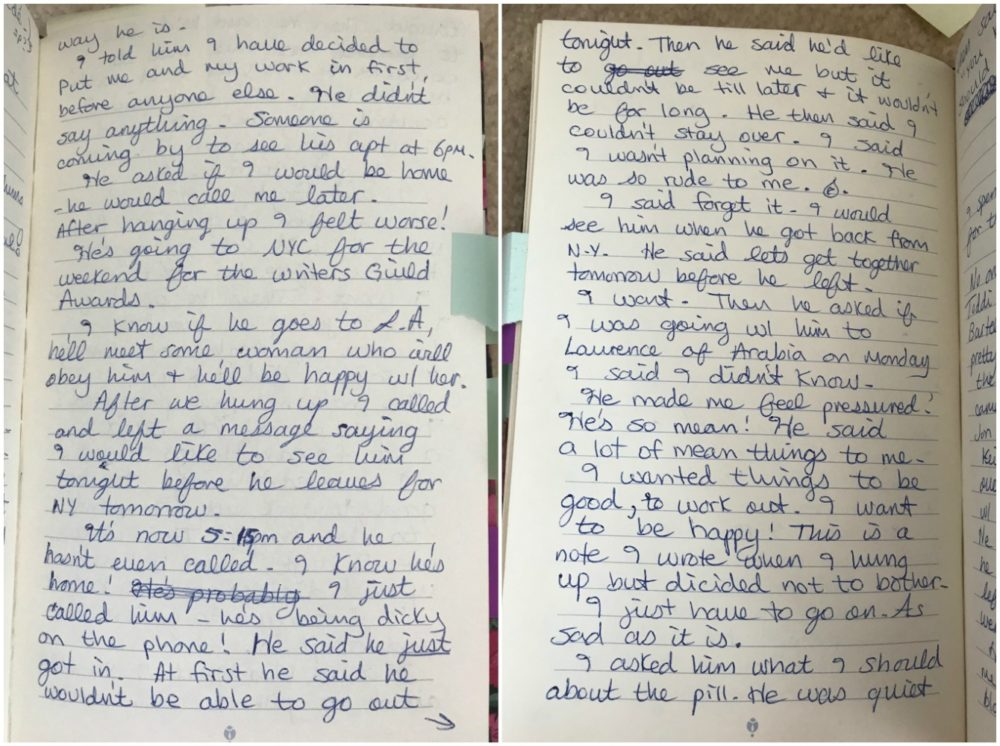 Stéphanie Rabinowitz's diary entry from Thursday, March 15, 1990. (Courtesy Stéphanie Rabinowitz)