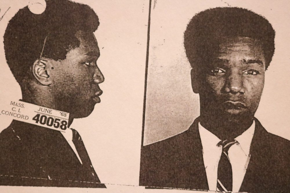 Michael Sumpter, in a 1968 booking photo (Courtesy of the Middlesex DA)