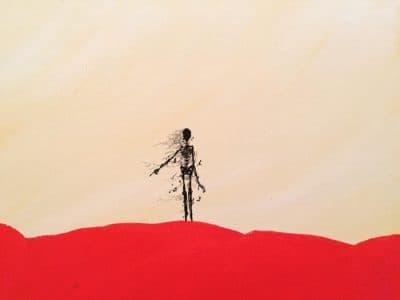 """Unmarked Grave""  Acrylics, 11x14 u/zettabeast http://www.beyondtheomni.com/"