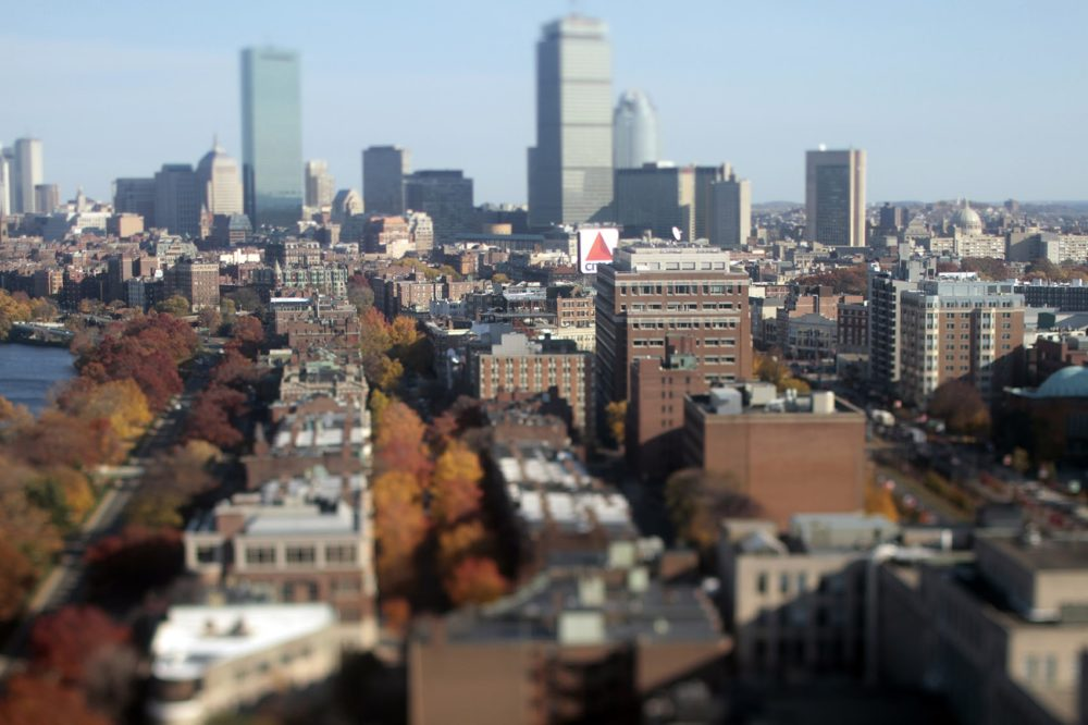 The Citgo sign has been in Kenmore Square since 1965. The iconic Boston landmark located at 660 Beacon Street is atop a building owned by Boston University. (Joe Difazio/ WBUR)