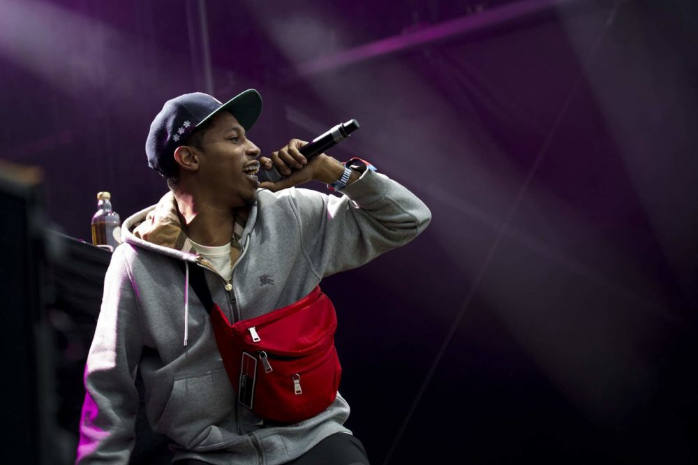 Cousin Stizz performs at Boston Calling in 2018. (Jesse Costa/WBUR)