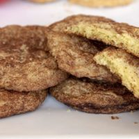 Snickerdoodles, made using a family recipe from Here & Now executive producer Kathleen McKenna. (Robin Lubbock/WBUR)