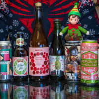With the colder weather, comes a smattering of holiday beer selections. (Jesse Costa/WBUR)