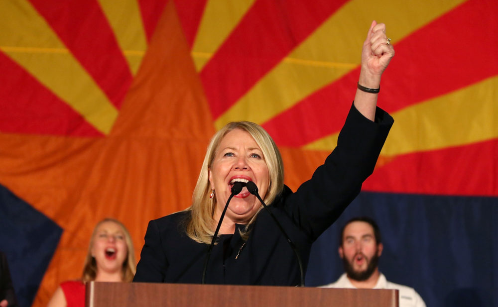 Republican candidate for Congress Debbie Lesko celebrates her victory during an election night event for Arizona GOP candidates on Nov. 6, 2018 in Scottsdale, Ariz. (Ralph Freso/Getty Images)