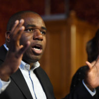 Labour Member of Parliament David Lammy speaks during a meeting at the House of Commons on May 1, 2018 in London. (Chris J. Ratcliffe/Getty Images)