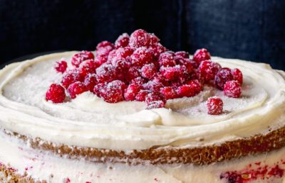 "Dorie Greenspan's triple-layer parsnip and cranberry cake, from ""Everyday Dorie: The Way I Cook."" (Courtesy of Ellen Silverman)"