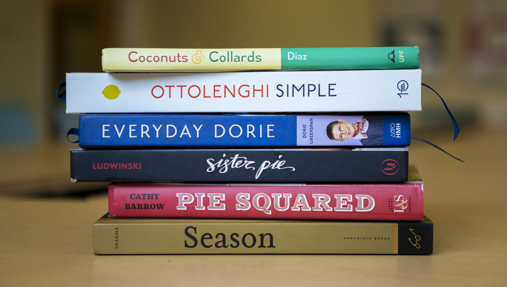 It was another great year for cookbooks in 2018, chef Kathy Gunst says. (Jesse Costa/WBUR)