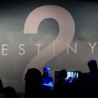 "Gaming fans play ""Destiny 2"" at E3 2017 in Los Angeles. (Frederic J. Brown/AFP/Getty Images)"