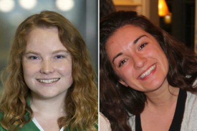 Rebecca Boyle (left) and Sam Giangrasso (right) got two very different sets of lessons about money growing up. (Courtesy)