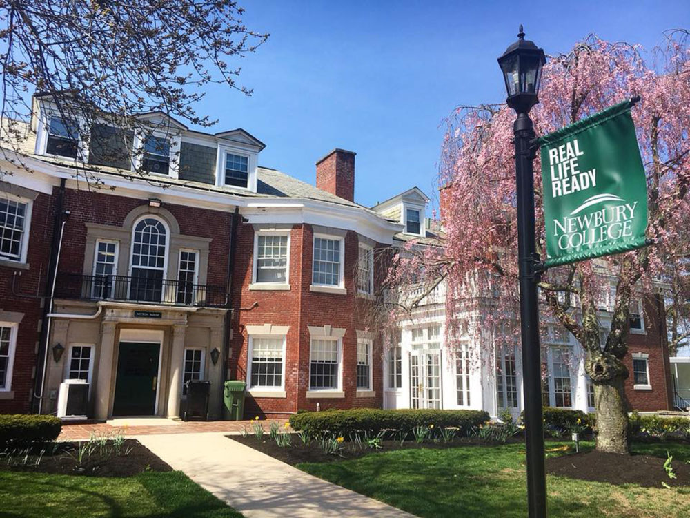 A building at Newbury College in Brookline, which is set to close this Spring. (Courtesy Newbury College via Facebook)