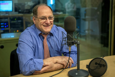 """""""America is angry, as they rightfully should be,"""" says outgoing Rep. Michael Capuano. (Jesse Costa/WBUR)"""