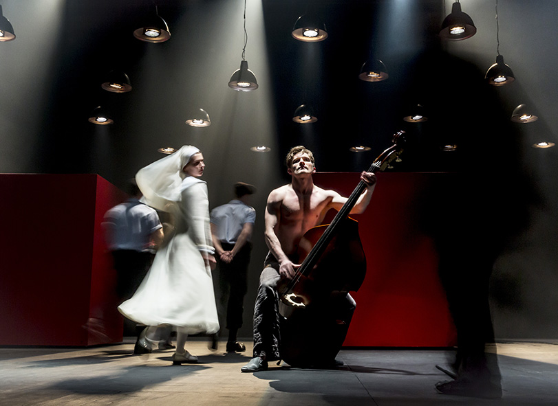 """Anna Vardevanian and Peter Rykov in """"Measure for Measure."""" (Courtesy Johan Persson)"""