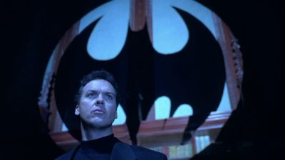 Michael Keaton as Batman. (Courtesy Warner Bros.)