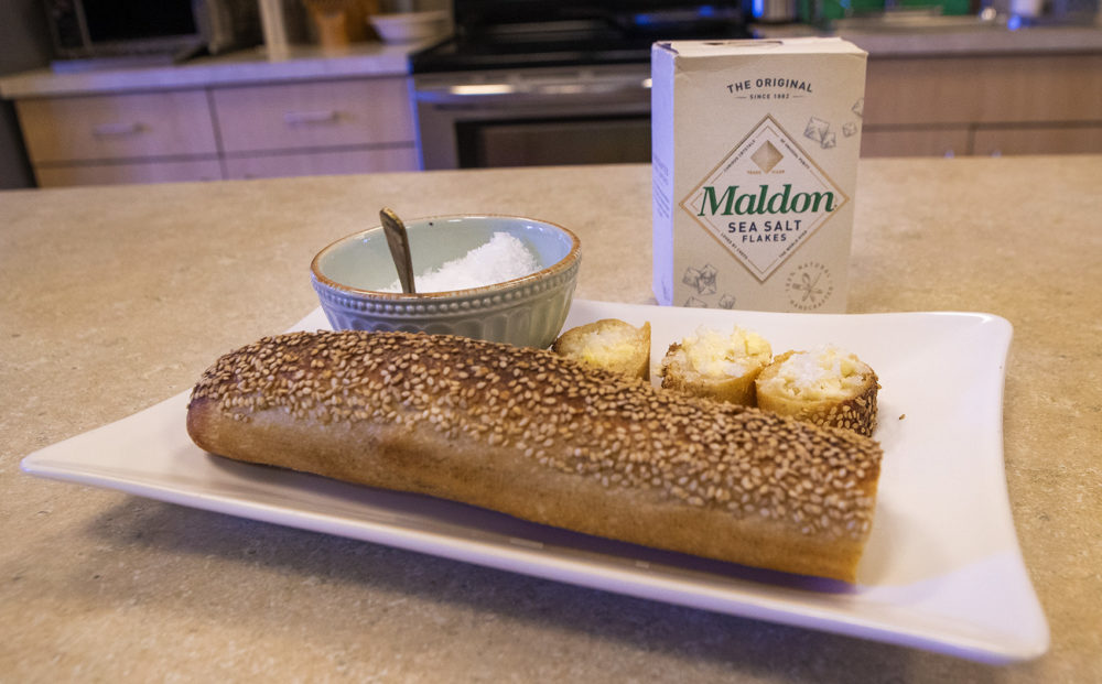 Maldon Sea Salt is chef Kathy Gunst's pick for best spice of 2018. (Jesse Costa/WBUR)