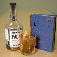 The Flapjack Old-Fashioned from mixologist Lonnie Newburn. (Robin Lubbock/WBUR)
