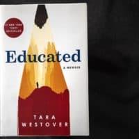 """""""Educated,"""" by Tara Westover. (Robin Lubbock/WBUR)"""
