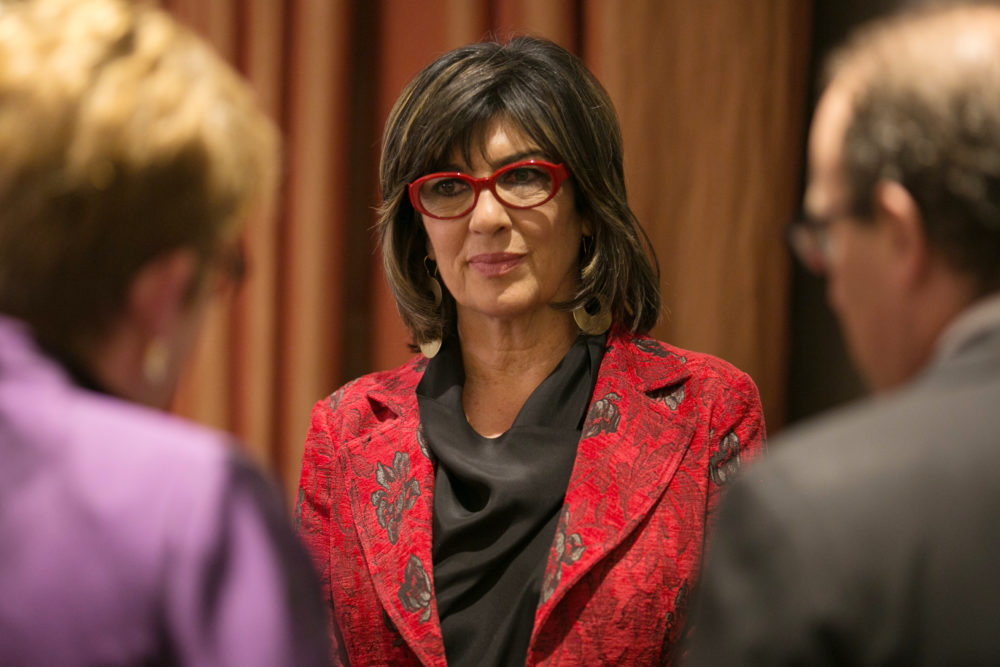 Christiane Amanpour speaks with attendees at the Committee to Protect Journalists' annual International Press Freedom Awards on Nov. 15, 2017 in New York City. (Kevin Hagen/Getty Images for CPJ)