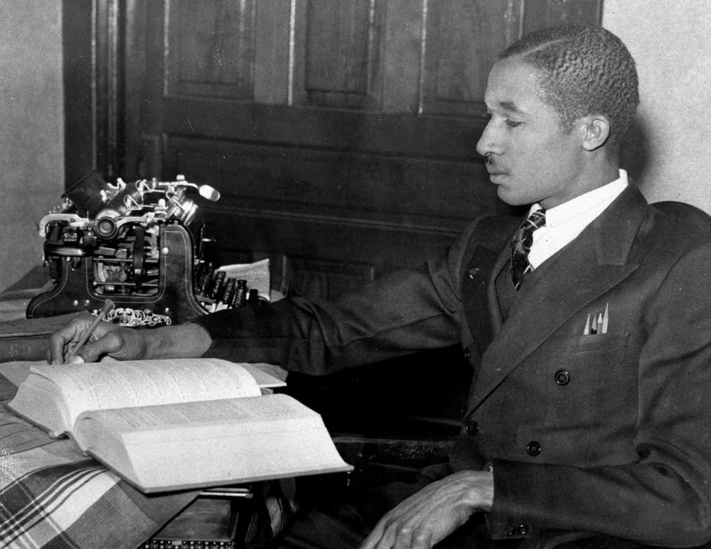 This December 1938 photo shows Lloyd Gaines, a young black American, who applied to University of Missouri's law school and was denied admission. He carried his case to the Supreme Court, and in its decision the high court ruled that Gaines is to be admitted into the institution. (AP Photo)