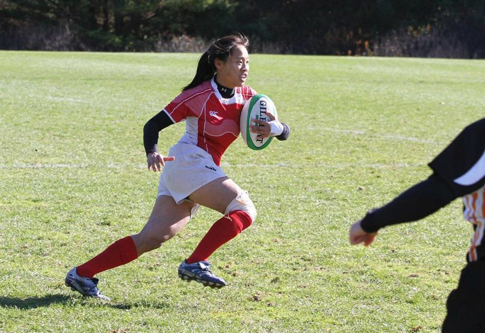 Emily playing rugby with the Brown University team in 2011. (Alison Gale/Courtesy Emily Hsieh)