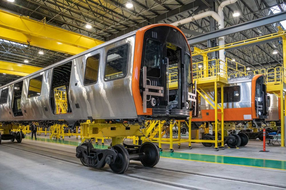 The first pair of new MBTA Orange Line cars were unveiled Dec. 18, 2018. (Courtesy MBTA)