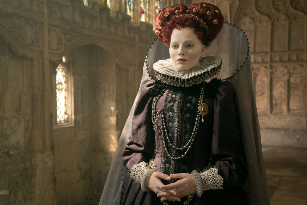 "Margot Robbie stars as Queen Elizabeth I in ""Mary Queen of Scots."" (Liam Daniel/Focus Features)"