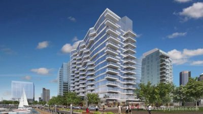 A rendering of 50 Liberty in the Seaport. (Courtesy Fallon Company)