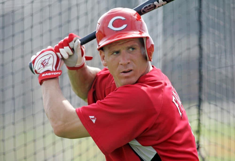 Ryan Freel takes batting practice at spring training in 2008. (Al Behrman/AP)