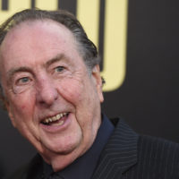 """Eric Idle arrives at the Los Angeles premiere of """"Snatched"""" at the Regency Village Theater on Wednesday, May 10, 2017. (Jordan Strauss/Invision/AP)"""